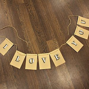 'I Love You' Wedding Day Bunting - bunting & garlands