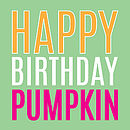Happy Birthday Pumpkin Card