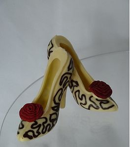 Small Chocolate Shoes Regency Rose - parties