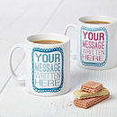 Personalised Typography Design Mug