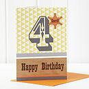4th Birthday Boy Card