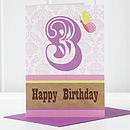 3rd Birthday Girl Card