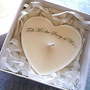 Personalised Valentine Scented Heart Candle