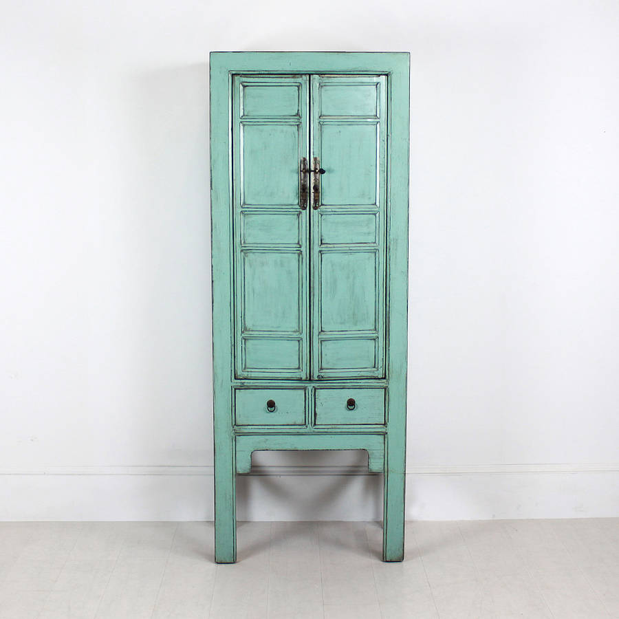 Tall Distressed Cabinet With Drawer By Out There Interiors