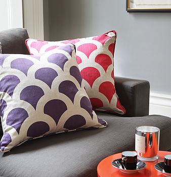 Grand Kyoto Koi Indogo and Cherry Cushions