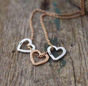 Personalised Mini Heart Necklace - gifts for her