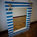 Nautical Striped Mirror With Rope