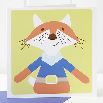 Fox Greetings Card Boy