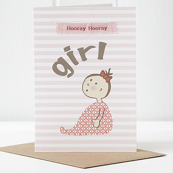 New Baby Girl Card cropped