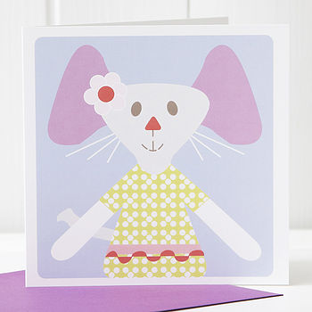 Mouse Greetings Card Girl