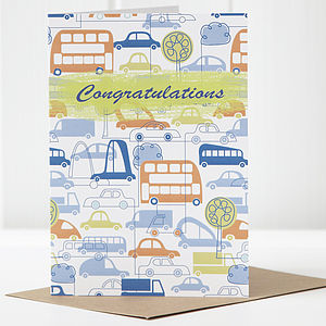 Car Congratulations Card