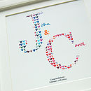 Personalised Wedding Or Engagement Print