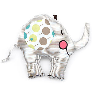 Elephant Baby Rattle - soft toys & dolls