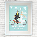 Personalised Wedding Gift Bride And Groom Print