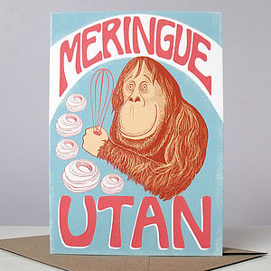 'Meringue' Utan Card - winter sale