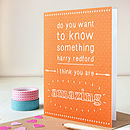 Personalised 'You Are Amazing' Card
