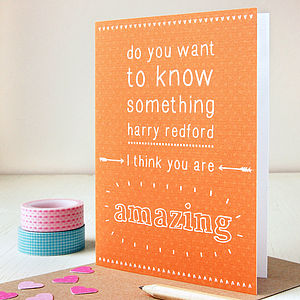 Personalised 'You Are Amazing' Card - valentine's cards