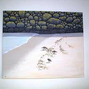 Turnstones Painting On Canvas - home accessories