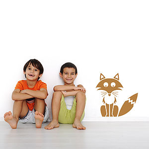 Children's Woodland Fox Wall Sticker - sale by category