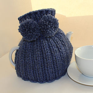 Traditional Tea Cosy With Pompoms