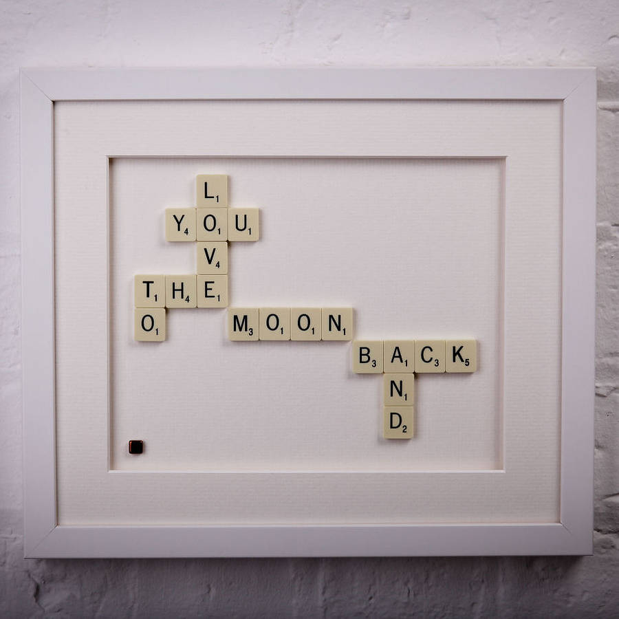 Love You To The Moon And Back Scrabble Art By Copperdot