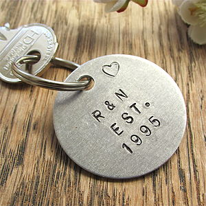 Personalised Special Date Anniversary Keyring - men's accessories