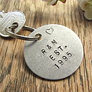 Personalised Special Date Anniversary Keyring