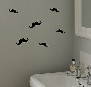 Moustache Mini Sticker Pack - wall stickers
