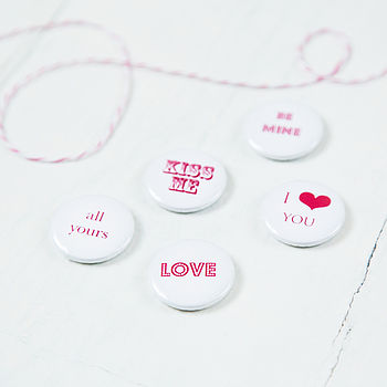 Pack Of Five Wedding Badges