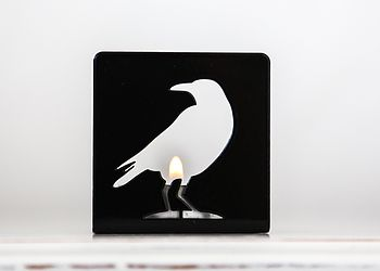 Smalll Black Crow T Light Holder