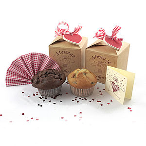 Double Message Muffins Giftbox - cakes & sweet treats