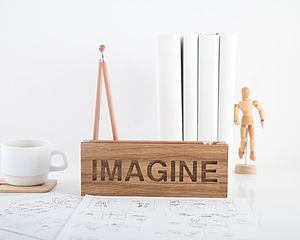 Imagine Oak Desk Tidy