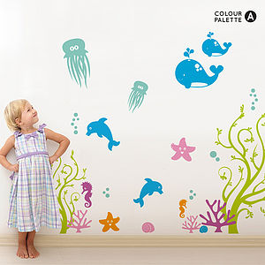 Sea Life Nursery Wall Sticker - office & study