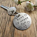 'Home Is Where Mum Is' Keyring