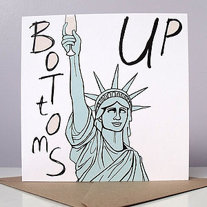 'Bottoms Up' Card