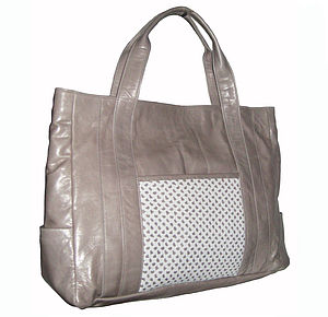 Porter Leather Tote Bag: In Stock
