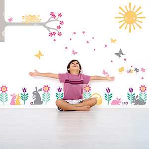 Easter And Spring Giant Wall Sticker Pack - living room