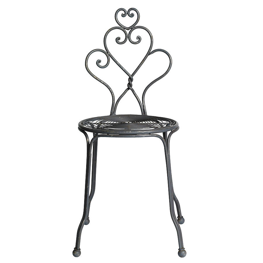Out There Interiors Curled Metal Garden Chair