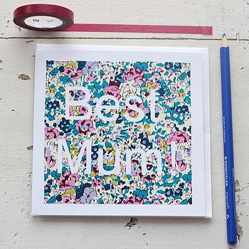 'Best Mum!' Handmade Card