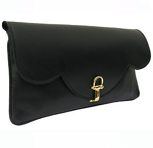 Savannah Leather Clutch Bag: In Stock