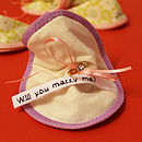 Will You Marry Me? Proposal Fabric Fortune