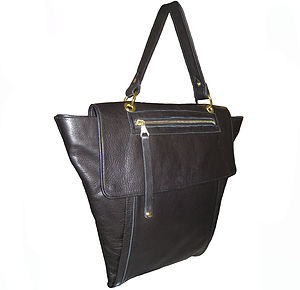 Jamie Leather Tote Bag: In Stock - shoulder bags