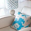 Wings Turquoise Cushion
