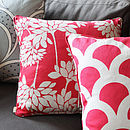 Penelope Warm Red Cushion