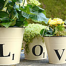 Letter Tile Style Buckets