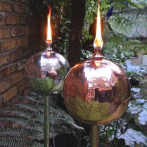 Globe Oil Burning Garden Torch - outdoor decorations