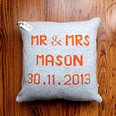 Knitted Marriage Cushion