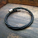 Black Bass String Bracelet