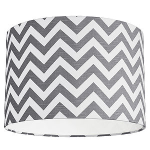 Zig Zag Linen Lampshade Five Colours - lampshades