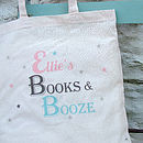 Personalised 'Contents' Tote Bag